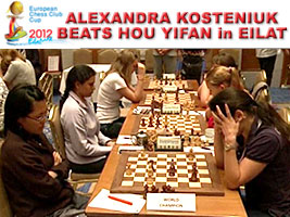 Chess Queen™ Alexandra Kosteniuk beats World Champion Hou Yifan
